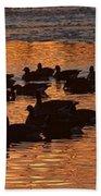 Sunset Silhouettes Bath Towel