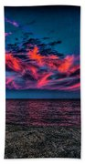 Sunset Sky At East Point Bath Towel