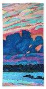 Sunset Snails Bath Towel