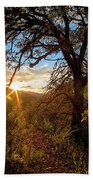 Sunset Through The Trees Bath Towel