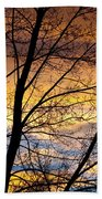 Sunset Tree Silhouette Bath Towel