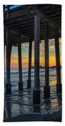 Sunset Under The Ventura Pier Bath Towel