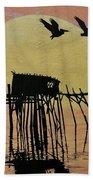 Sunset Wall Mural In Cedar Key, Fl Bath Towel