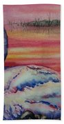 Sunset Watcher Bath Towel