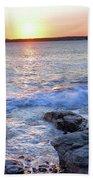 Sunset Waves Bath Towel