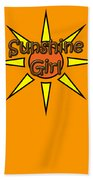 Sunshine Girl Hand Towel