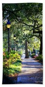 Sunshine On Savannah Sidewalk Bath Towel