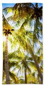 Sunshine Palms Bath Towel
