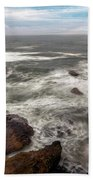 Surfer At Cape Kiwanda In Pacific City Bath Towel