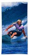 Surfer Dude Catching A Wave Bath Towel