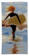 Surfer Girl Hand Towel