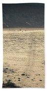 Surfing At Leo Carrillo Beach Hand Towel