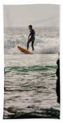 Surfing By The Pier Bath Towel