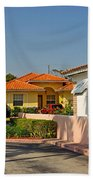 Surfside Neighborhood In Miami Beach Bath Towel