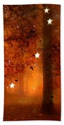 Surreal Fantasy Autumn Woodlands Starry Night Bath Towel