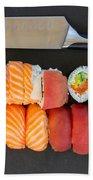 Sushi And Knife Bath Towel