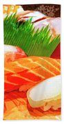 Sushi Plate 1 Bath Towel