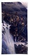 Suvorov Crossing The Alps In 1799 Bath Towel