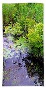 Swamp Plants Bath Towel
