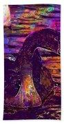 Swan Bird Animal Lake Summer  Bath Towel