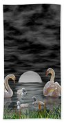 Swan Family Hand Towel