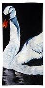 Swan In Shadows Bath Towel