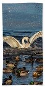 Swan Wings Reach Bath Towel