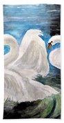 Swans In Love Bath Towel