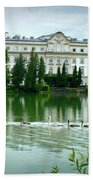 Swans On Austrian Lake Bath Towel