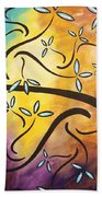Sweet Blossom By Madart Bath Towel