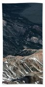 Sweetwater Mountains On California Nevada Border Aerial Photo Hand Towel