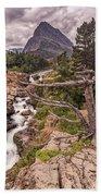 Swiftcurrent Lake Falls Bath Towel