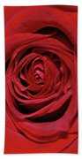 Swirling Red Silk Bath Towel