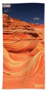 Swirls And Buttes At The Wave Bath Towel