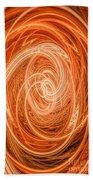 Swirls Of Orange Bath Towel