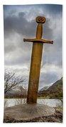 Sword Of Llanberis Snowdonia Bath Towel