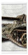 T-54 Soviet Tank W-bg Bath Towel