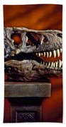 T Rex Skull Bath Towel