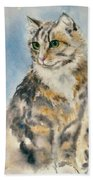 Tabby Cat Bath Towel