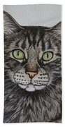 Tabby-lil' Bit Bath Towel by Megan Cohen