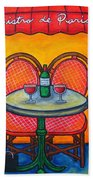 Table For Two In Paris Bath Towel