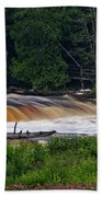 Tahquamenon Lower Falls Upper Peninsula Michigan 04 Bath Towel