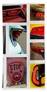 Tail Light Collage Number 1 Bath Towel
