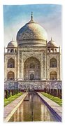 Taj Mahal - Paint Bath Towel