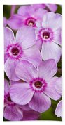 Tall Garden Phlox Bath Towel