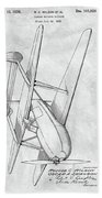 Tandem Biplane Patent Bath Towel