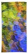Tangerine Twist Mosaic Abstract Art Bath Towel