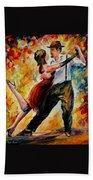 Tango In Red Bath Towel