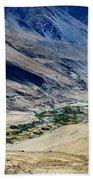 Tangsey Village Landscape Of Leh Ladakh Jammu And Kashmir India Bath Towel