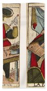 Tarot Cards, C1700 Hand Towel